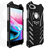 HikerClub iPhone 7/8 Case Bat Shape Metal Bumper Aluminum Alloy Shell Armor Military Grade Defender Heavy Duty Sturdy Frame Shockproof Edge Protective Cover for iPhone 7/8