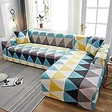 Fundas elásticas para sofá a Cuadros para Sala de Estar, Fundas sofás con Chaise Longue, Funda para sofá, Funda para sillón A21, 3 plazas