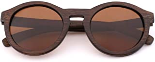 LUKEEXIN Fashion Driving Wooden Sunglasses, Polarized Light, UV400 for Women and Men (Color : Brown)