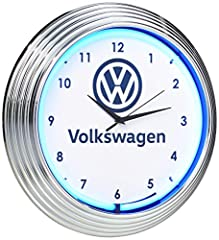 Electric clock easily plugs into Regular outlets Great for garages, shops, man caves, pool rooms, Bars and game rooms as well as homes and businesses Uses one AA battery to power clock movement (not Included) Fully licensed by Volkswagen through Neon...