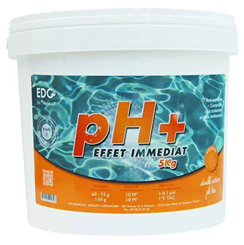 EDENEA - PH Plus Piscine - Poudre - Seau 5 kg - Augmente Le PH - EDG