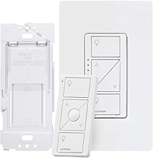 Lutron Caseta Smart Home Dimmer Switch and Pico Remote Kit, Works with Alexa, Apple HomeKit, and the Google Assistant | P-PKG1WB-WH | White