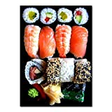 Canvas Prints Wall Mural Picture Japanese Food Sushi Posters Modern Restaurant Dining Hall...