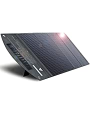 ITEHIL Solar Panel, 100W Monocrystalline Portable Solar Panel, High Efficiency Waterproof Solar Panel Charger with USB/DC Outputs for Power Stations Outdoor Camping