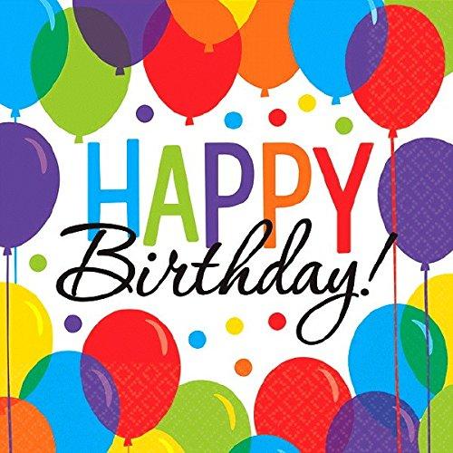 amscan 700000 Balloon Bash Birthday Party Beverage Napkins, Multi Color,...
