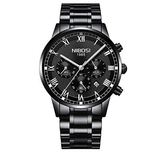 NIBOSI Chronograph Men's Watch ( Black Dial & Black Strap )