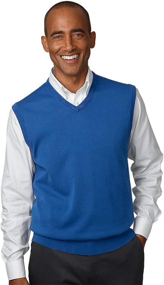 Paul Fredrick Mens Supima Cotton V-Neck Sweater Vest
