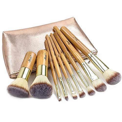 Matto Makeup Brushes 9-Piece Makeup Brush Set Foundation Brush with...