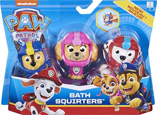 Paw Patrol, Confezione da 3 Spruzzini per Il Bagnetto con Marshall, Chase e Skye, per Bambini dai 3 Anni in su