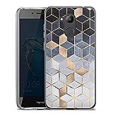 DeinDesign Silikon Hülle kompatibel mit Huawei Honor 6C Pro Case Schutzhülle Würfel Abstrakt Elisabeth Fredriksson