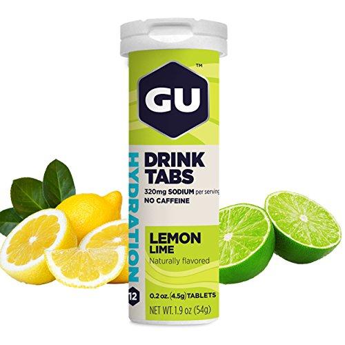 GU Energy Pastillas Disolventes de Electrolitos con Lima Limón - 8 Unidades