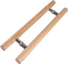 Deurkruk, massief hout Commerciële Push-pull Handvat/Glazen deurkruk/Houten deurgreep, 4 lengtes