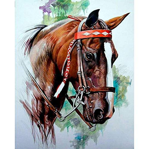 De Animal Caballo Cabeza Mosaico Diy Diamante Pintura Punto De Cruz Bordado Oración Del Hogar