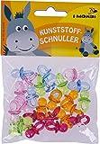 i-mondi® Kunststoffschnuller zum Basteln, Farben sortiert, 24 Stück, Größe: 22 mm