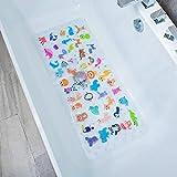 BEEHOMEE - Tappetino antiscivolo per la doccia, per bambini, protezione antimuffa, antiscivolo, per vasca da bagno, 90 x 40 cm, XL