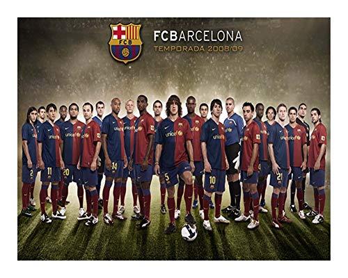 Puzzle FC Barcelona Colección Rompecabezas -2008/09 Estación de Madera 1000 Piezas - Cada Pieza es única, Piezas encajan Perfectamente