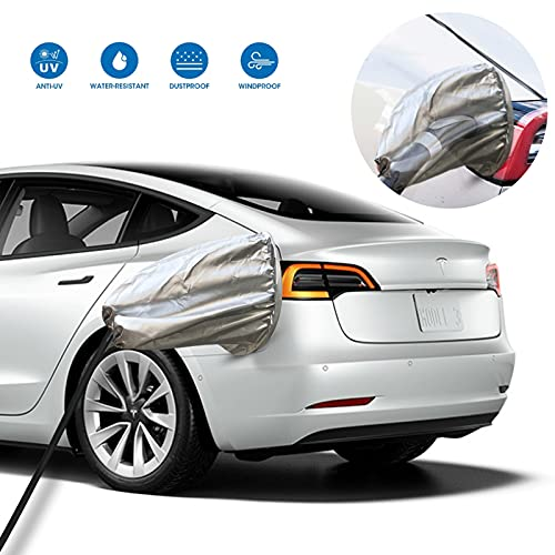 DASANRAO EV Charger Car Cover Rain Sun UV Protection,Waterproof Charging Car Cover for Tesla Model Y,Model 3, Outdoor Car Charging Accessories Compatible with Most Electric Cars