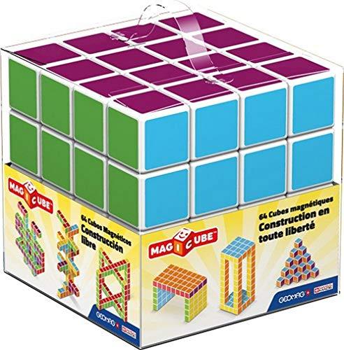 Geomag- Magicube Free Building Cubos magneticos, Multicolor, 64 Piezas (129)