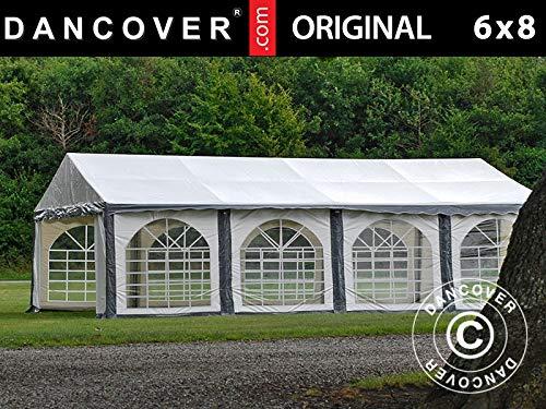Dancover Partytent Original 6x8m PVC, Grijs/Wit