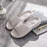 Ririhong Zapatillas de Suela Blanda de Verano para Hombre, baño Interior para el hogar, baño Antideslizante, Sandalias y Zapatillas para el hogar, desodorante-39-40_Light_Grey