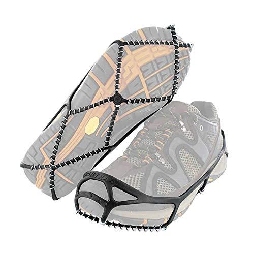 Zapatos Antideslizantes Pinza De Hielo, Tacos De Tracción para Caminar para Caminar sobre La Nieve Y El Hielo, Puños De Nieve para Botas, Crampones Picos para Escalar, Caminar EU:41-46