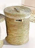 großer Wäschekorb aus Seegras