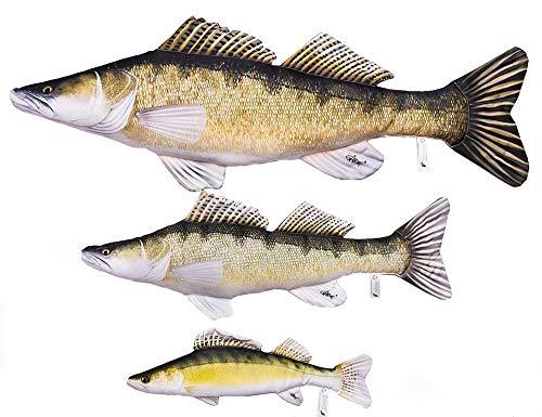 Gaby DER Zander Sander Lucioperca Kuscheltier Stofftier Fisch Polyester (110cm)