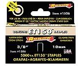 Arrow Fastener 1506 Genuine ET150/155 3/8-Inch Narrow Crown Staples, 5,000-Pack