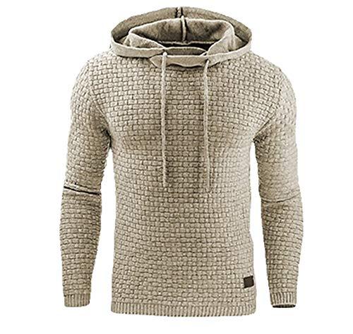 Winter Herrenmode Langarm Sweater Plaid...