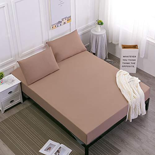 IKITOBI Sábanas bajeras dobles teñidas y fáciles de cuidar, ropa de cama de lujo de 160 x 200 x 30 cm