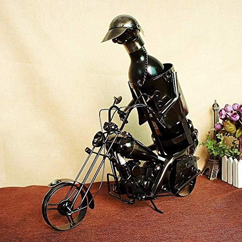 Pyrojewel Clásico Estante del vino vino estilo moto de montar en rack creativa muebles ornamento decoración de hierro estante del vino titular de la botella de vino vino Contenedores Decoración del ar