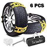 Buyplus Tire Chains for Cars - Adjustable Anti Slip...
