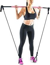 XWXBB Draagbare pilates-barkit met weerstandsband, met lange weerstand, yoga pilates stick yoga oefenstang voor bodybuildi...