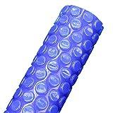 JLXJ Cobertor Solar Piscinas Cubierta de Piscina Solar, Rectangular Azul Burbuja Película de Calentamiento Mantas Flotantes para Piscina Inflable, Piscina de Marco, Borde con Cinta con Ojales