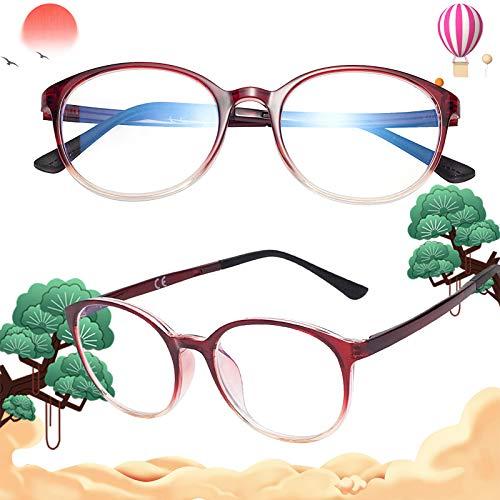 老眼鏡 軽いブルーライトカットメガネ おしゃれ ユニセックス メンズ レディース ケース付き 度付き レッド 度数+150 L8088