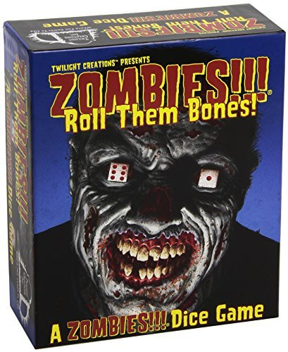 Zombies. Roll Them Bones. Dice Game by Twilight Creations, Inc