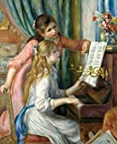 Blank Lined Journal - Renoir's Two Young Girls at the Piano & In The Meadow