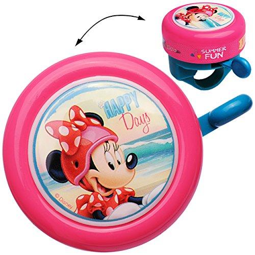 alles-meine.de GmbH Fahrradklingel -  Disney Minnie Mouse  - Klingel für das Fahrrad - Kinder Mädchen - Lenkerklingel - Maus Mäuse Playhouse - universal auch für Roller und DRE..