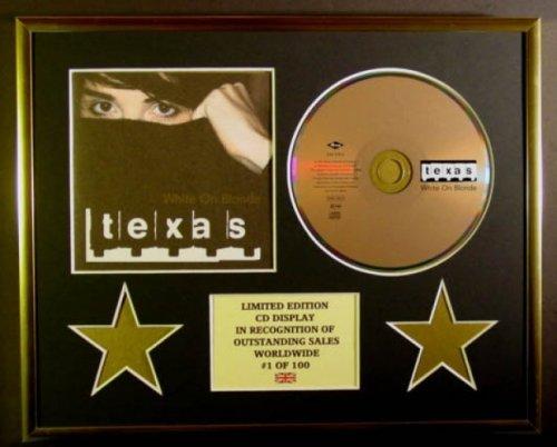 TEXAS/CD Display/Edicion Limitada/Certificato di autenticità/WHITE ON BLONDE