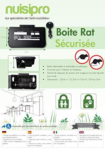Lot de 2 boites d'appât robustes pour rats pour l'extérieur de Pest Expert.
