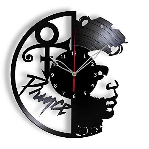 Aayuj Vinyl Clock Prince Music Fan Art Decor Vinyl Record Wall Clock Original Gift Unique Decorative Clock 12  (30 cm)
