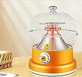 SEYE Lámpara de Calor portátil para Exteriores, Temperatura Ajustable, Calentadores Infrarrojos eléctricos, Calentador de Espacio, Ideal para Garaje, Camping, Senderismo, picnics