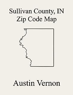 Sullivan County, Indiana Zip Code Map: Includes Hamilton, Cass, Curry, Fairbanks, Gill, Haddon, Jackson, Jefferson, and Turman