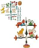 alles-meine.de GmbH Holz Bastelset - Friesenbaum / Baum / Dekobaum - Osterhase mit Blumen - zum Basteln - komplett ausgesägt Natur Ostern Osterei / Ei Osternest Frühling Osterdek..