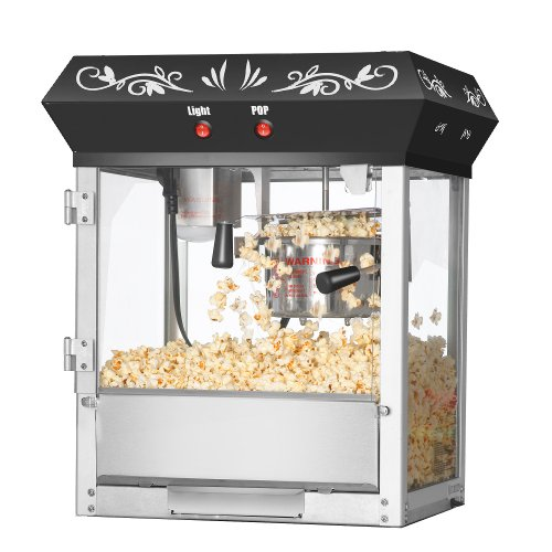 Great Northern Popcorn Black 6 oz. Ounce Foundation Old-Fashioned Movie Theater Style Popcorn Popper