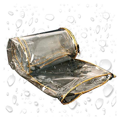 ALGFree-Sun Sonnensegel Transparente Regenschutz Plane, Plane Regenvorhang Regenfestes Tuch Mehrzweck Kunststoff Transparent Draussen Zelt Schutz Camping, 47 Größen (Color :...