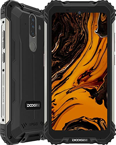 DOOGEE S58 Pro Rugged Smartphone Super Protetto, 6 GB + 64 GB, 5,71 Pollici HD+, 16 MP + 16 MP Tripla Fotocamera, 5180 mAh Big Batteria, 4G Dual SIM Telofono Cellulare, NFC, GPS, Android 10