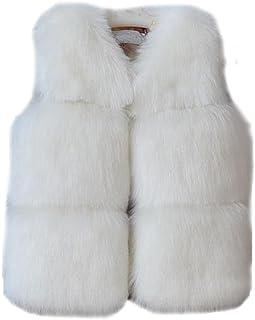 352f2a9bb FOLOBE Niños Otoño Invierno Chaleco de Piel Sintética Abrigos Abrigo Cálido  Chaleco Sin Mangas Calentador Ocasional