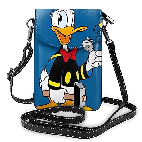 Donald Duck - Bolso bandolera para mujer con ranuras para tarjetas de crédito