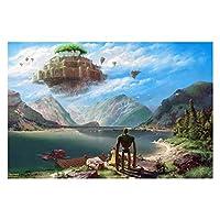 Jigsaw Puzzles - ジグソーパズル - ジグソーパズル木製パズル - 天空の城ラピュタ、1000ピースのパズルアニメアダルトパズルゲーム Toys Games